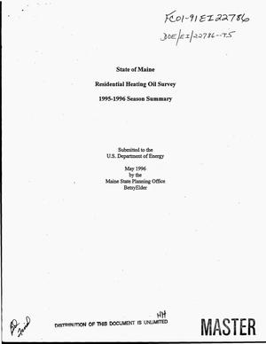 Primary view of object titled 'State of Maine residential heating oil survey: 1995--1996 season summary'.