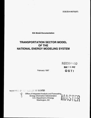 Primary view of object titled 'Model documentation report: Transportation sector model of the National Energy Modeling System'.