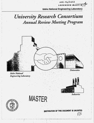 Primary view of object titled 'University Research Consortium annual review meeting program'.