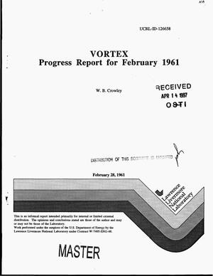 Primary view of object titled 'VORTEX: Progress report for February 1961'.