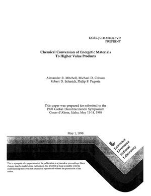 Primary view of object titled 'Chemical conversion of energetic materials to higher value products'.