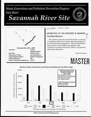 Primary view of object titled 'Waste generation and pollution prevention progress fact sheet: Savannah River Site'.