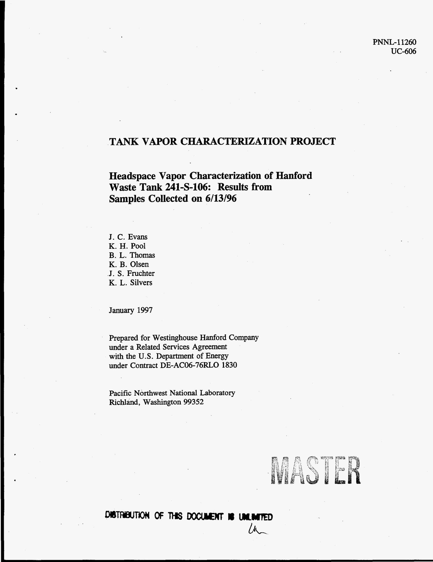 Headspace Vapor Characterization Of Hanford Waste Tank 241 S 106