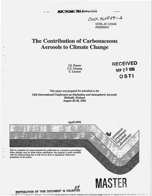Primary view of object titled 'The contribution of carbonaceous aerosols to climate change'.
