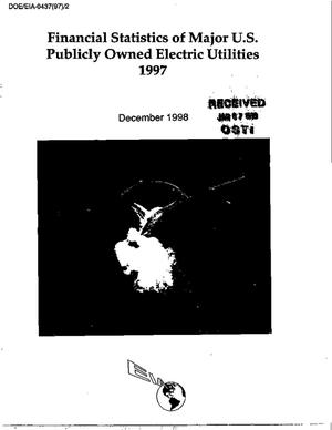 Primary view of object titled 'Financial statistics of major U.S. publicly owned electric utilities 1997'.