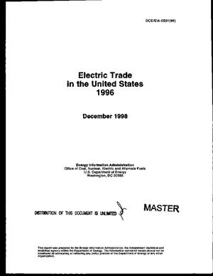 Primary view of object titled 'Electric trade in the United States, 1996'.