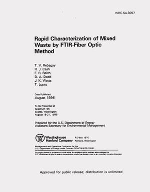Primary view of object titled 'Rapid characterization of mixed waste by FTIR-fiber optic method'.