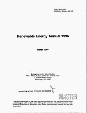Primary view of object titled 'Renewable energy annual 1996'.