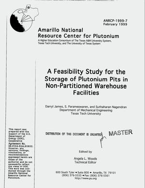 Primary view of object titled 'A feasibility study for the storage of plutonium pits in non-partitioned warehouse facilities'.