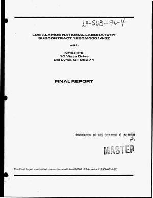 Primary view of object titled 'Radiological engineering services for the design of special contamination containments. Final report'.