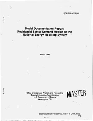 Primary view of object titled 'Model documentation report: Residential sector demand module of the National Energy Modeling System'.