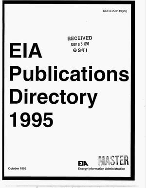 Primary view of object titled 'EIA Publications Directory 1995'.
