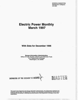 Primary view of object titled 'Electric power monthly with data for December 1996'.