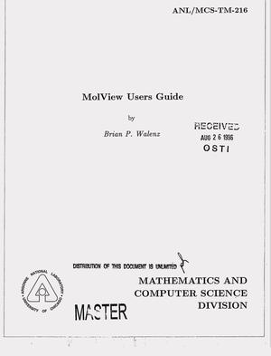 Primary view of object titled 'MolView users guide'.