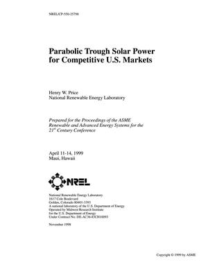 Primary view of object titled 'Parabolic Trough Solar Power for Competitive U.S. Markets'.