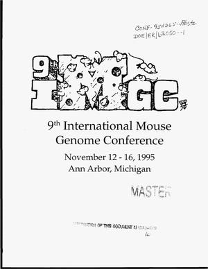 Primary view of object titled '9. international mouse genome conference'.