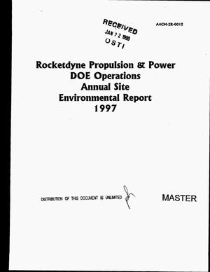 Primary view of object titled 'Rocketdyne Propulsion and Power DOE Operations annual site environmental report 1997'.