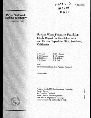 Primary view of object titled 'Surface Water-Sediment Feasibility Study Report for the McCormick and Baxter Superfund Site, Stockton, California'.