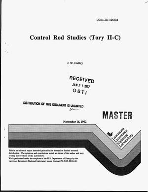 Primary view of object titled 'Control rod studies (Tory II-C)'.