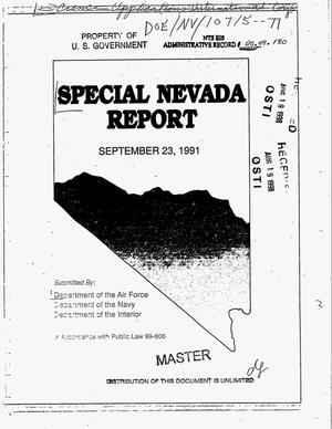 Primary view of object titled 'Special Nevada report'.