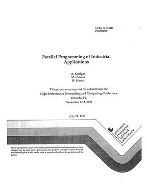 Primary view of object titled 'Parallel programming of industrial applications'.