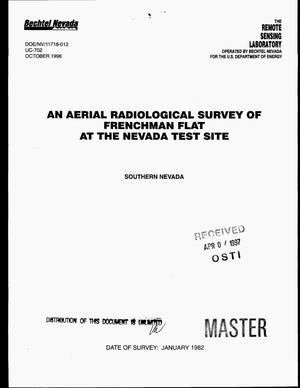 Primary view of object titled 'An aerial radiological survey of Frenchman Flat at the Nevada Test Site, Southern Nevada'.