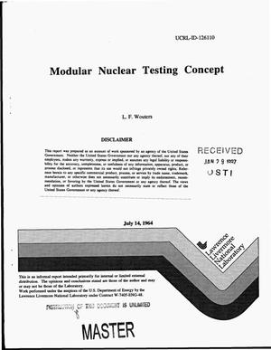 Primary view of object titled 'Modular Nuclear Testing Concept'.