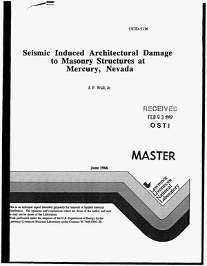 Primary view of object titled 'Seismic induced architectural damage to masonry structures at Mercury, Nevada'.