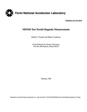 Primary view of object titled 'MINOS test toroid magnetic measurements'.