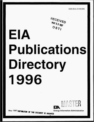 Primary view of object titled 'EIA publications directory 1996'.