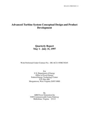 Primary view of object titled 'Advanced turbine systems conceptual design and product development. Quarterly Report, May 1 - July 31, 1997'.