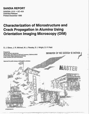 Primary view of object titled 'Characterization of microstructure and crack propagation in alumina using orientation imaging microscopy (OIM). December 1996'.