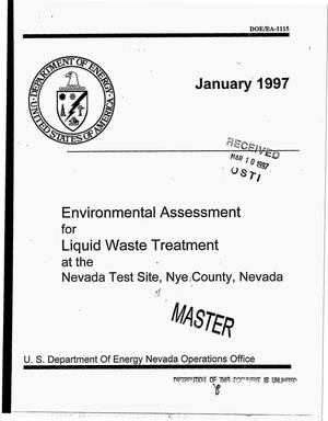 Primary view of Environmental assessment for liquid waste treatment at the Nevada Test Site, Nye County, Nevada