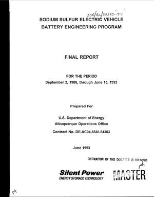 Primary view of object titled 'Sodium sulfur electric vehicle battery engineering program final report, September 2, 1986--June 15, 1993'.