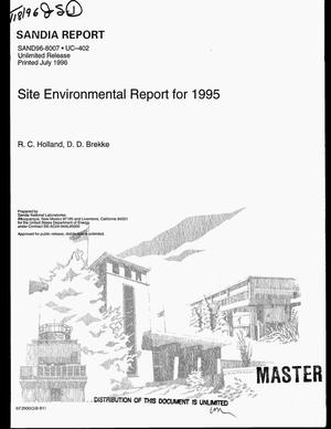 Primary view of object titled 'Site Environmental Report for 1995'.