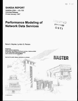 Primary view of object titled 'Performance modeling of network data services'.