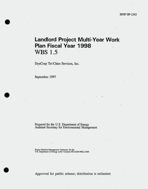 Primary view of object titled 'Landlord project multi-year work plan fiscal year 1998'.