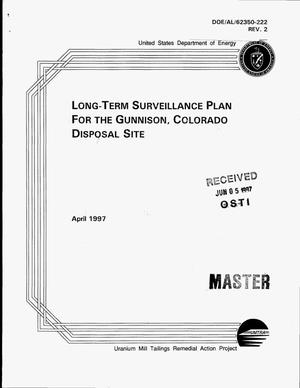 Primary view of object titled 'Long-term surveillance plan for the Gunnison, Colorado, disposal site'.