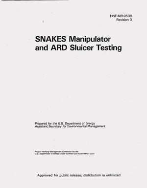 Primary view of object titled 'SNAKES manipulator and ARD sluicer testing -- April 1997'.