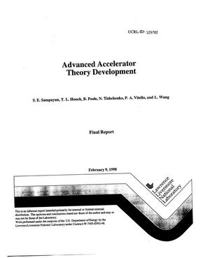 Primary view of object titled 'Advanced accelerator theory development'.