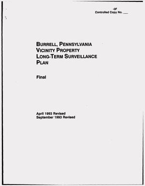 Primary view of object titled 'Burrell, Pennsylvania, vicinty property Long-Term Surveillance Plan. Final report'.