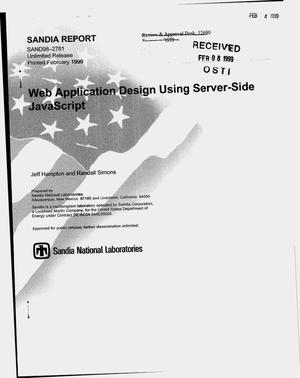 Primary view of object titled 'Web Application Design Using Server-Side JavaScript'.