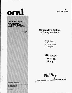 Primary view of object titled 'Comparative testing of slurry monitors'.