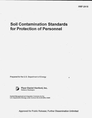 Primary view of object titled 'Soil contamination standards for protection of personnel'.