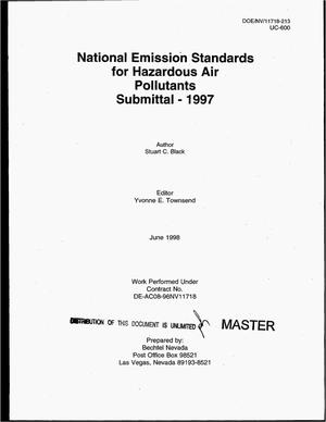 Primary view of object titled 'National Emission Standards for Hazardous Air Pollutants submittal -- 1997'.