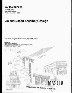 Primary view of object titled 'Liaison based assembly design'.