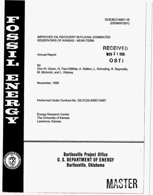 Primary view of object titled 'Improved oil recovery in fluvial dominated reservoirs of Kansas--near-term. Annual report'.