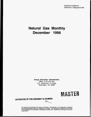 Primary view of object titled 'Natural gas monthly, December 1996'.