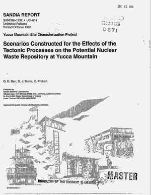 Primary view of object titled 'Scenarios constructed for the effects of tectonic processes on the potential nuclear waste repository at Yucca Mountain'.