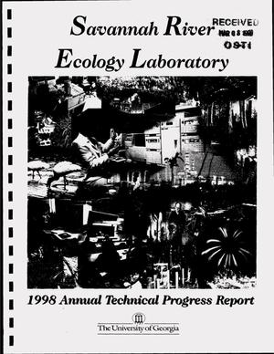 Primary view of object titled 'Savannah River Ecology Laboratory, annual technical progress report of ecological research for the year ending June 30, 1998'.